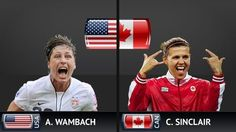 Abby Wambach and The Best Woman's footballer in the world - Christine Sinclair (The Canadian Press) - 3 goals against the US today - way to go Christine!