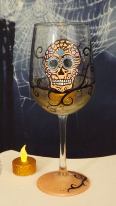 0846ab188133 Items similar to hand painted wine glass