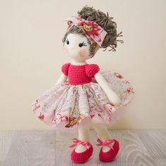 Reserved FREE SHIPPING Amigurumi crochet doll Pretty