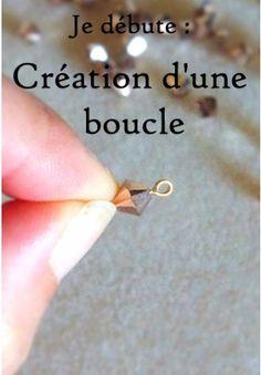 Je débute : Création d'une boucle - Je débute - L´espace créatif | MatièrePremière