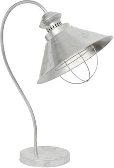Industrial zinc table lamp