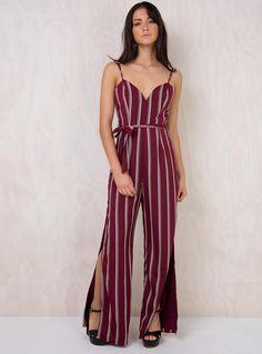 f5ac40b9491 Sugar+Rush+Jumpsuit+-+ Jumpsuit Striped+print Wide+leg V+