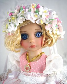 Dress fits Tonner Patsy, Boneka, Ann Estelle. Little Charmers Doll Designs #Dolls