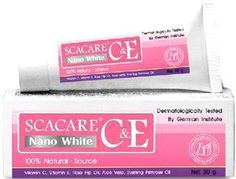 Scacare C Nano White Natural Vitamin Lightening Cream Made in Thailand by TOP BEST PRODUCTS. $30.00. Brand : Scacare  Product Size : 30 gram Condition : Brand new & Never used with a seal pack    Scacare C& E Nano White  100% natural -Source  Vitamin C, E , Rose Hip Oil, Aloe Vera, Evening Primrose Oil    Description :  The advanced Nano white formula which ocntains effective vitamins derivative with natural extract ingredients and Nano White provides skin intensive moistu...