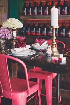 Tablescape Photo by: Michelle Mez Photography Styled by: Whip Special Events Florals: Zora's Flowers Desserts: Cakelaine Decor: Panache Decor Shoppe Party Stores, Tablescapes, Special Events, Party Supplies, Florals, Valentines, Engagement, Table Decorations, Desserts