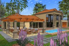 Double Storey House Plans, Building Costs, My Dream Home, Dream Homes, Guest Toilet, Guest Bed, Garages, Car Garage, Home Collections