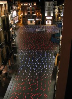 Plaza del Torico |  Teruel, Spain | Completed 2007 | Artec3 - in pavement linear lights