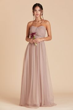 583131b691 Christina Convertible Dress - Taupe Tulle Bridesmaid Dress, Bridal Dresses,  Bridesmaid Color, Strapless