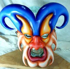 Leather-Venetian-Masquarade-Mask-Demon-Mardi-Gras-Jester-Harlequin-Devil-Joker