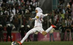 FIFA has lifted the hijab ban that's been in place since 2007!  All the ladies! All the football! Fu*k yeah