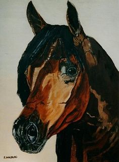 arabian horse painted with oil