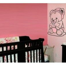 Teddy bear wall decal #13 Baby Kids Room Wall Stickers, Nursery Wall Decals, Cute Teddy Bears, Love Symbols, Sticker Design, Colours, Baby, Products, Wall Stickers For Nursery