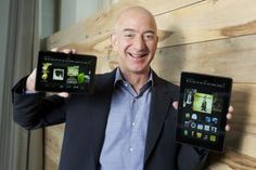 """[VIDEO] Jeff Bezos Says Live-Help Button and Other Features Make New Kindle Fire Tablets Uniquely Amazon—Press the """"Mayday"""" button and a small window on the tablet pops up, offering live customer support."""