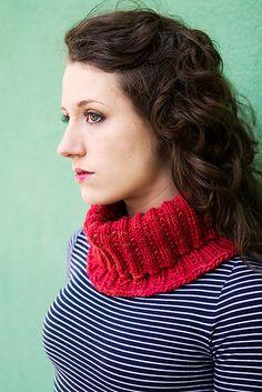 Halsvarmer i perlerib Wisconsin River, Ravelry, Cowl, Knitting Patterns, Uld, Turtle Neck, Crochet, Sweaters, Fiber