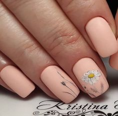 Are you looking for peach acrylic nails design? See our collection full of peach acrylic nails designs and get inspired! Peach Acrylic Nails, Peach Nails, Daisy Nails, Acrylic Nail Designs, Nail Art Designs, Nails Design, Nail Art Flowers Designs, Trendy Nails, Cute Nails