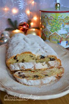Barbi konyhája: Túrós stollen Bagel, Camembert Cheese, Bread, Pound Cakes, Food, Brot, Essen, Baking, Meals