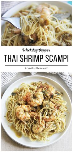 What a great recipe for Thai Shrimp Scampi - so perfect for Weekday Supper