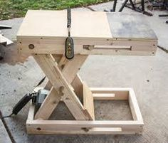 scissor jack adjustable table - Google Search
