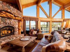40178 LAKE VIEW DR, BIG BEAR LAKE, CA 92315 - Zillow Living Room Windows, Living Spaces, Big Bear Lake, Lake Arrowhead, Large Bedroom, Patio Dining, Lake View, Custom Homes, Habitats