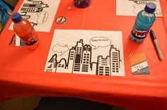 Coloring pages from a Super Hero Party #superhero #activities
