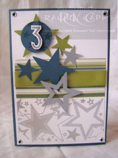 Image detail for -Today is my son's birthday … and he is 3! This is the card I made ...