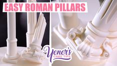 NEW Yeners Cake Tip! - EASY Sugar ROMAN PILLARS Tutorial - https://www.youtube.com/watch?v=zyOz3SpdvvU