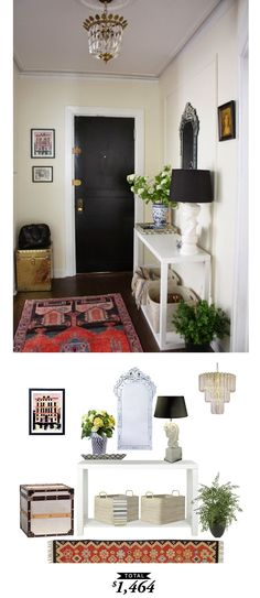 A vintage chic entryway for under $1,500. A Copy Cat Chic Room Redo by @audreycdyer
