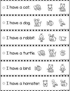 FREE Reading Fluency and Comprehension Sentence Strip