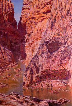 Desfiladero de los Gaitanes. 1913. Óleo sobre lienzo. 216,5 x 151,5 cms. Museo de Bellas Artes. Valencia. Obra de Antonio Muñoz Degrain