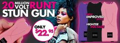 NEW Runt Stun Gun - Now 20 MILLION Volts of Power. $22.95  Effective Self Defense Weapons for Women that Stand Out
