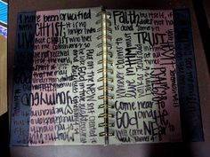 Decorated notebook
