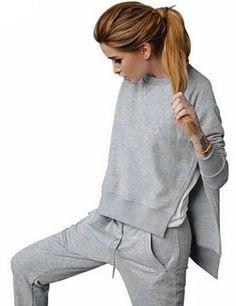 Autumn Winter Sweatshirts Tops+Pants Tracksuit Set