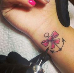 Bow Anchor Tattoo on We Heart It