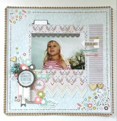 Kaisercraft: Bow & Arrow Collection: 'Always Beautiful' layout Scrapbooking Layouts, Scrapbook Pages, Bow Arrows, Hello Beautiful, Ink Pads, Clear Stamps, Cardmaking, Projects To Try, Bows