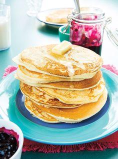 Sauce aux bleuets (myrtilles) super facile pour les pancakes de Ricardo cuisine
