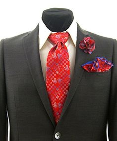 Easter Suit, Pocket Square, Red And Blue, Paisley, Tie, Suits, Amazon, Fashion, Moda