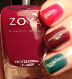 The TraceFace Philes: Quickie Zoya Gloss Collection Skittles!