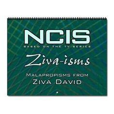 This NCIS Ziva-isms Calendar $16.99 makes a great Christmas gift.