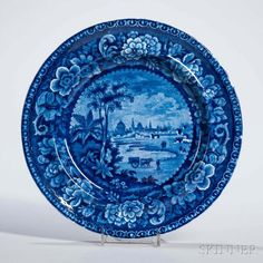 Staffordshire Historical Blue Transfer-decorated Buenos Ayres Plate - Price Estimate: $200 - $300