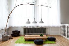 DIY branch pendant light - Decoist