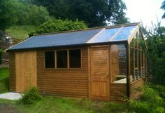 Garden Shed with Greenhouse Attached, heated