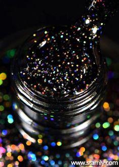 Apr 2020 - Starrily Neutrino - Black Glitter Holographic Nail Polish - 15 ml Black Nail Polish, Holographic Nail Polish, Holographic Glitter, Black Nails, Glitter Force Toys, Glitter Slime, Glitter Eyeshadow, Glitter Hair Spray, Glitter Girl