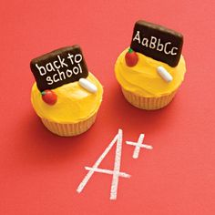 Spoonful.com goes back to school with creative lunch recipes, crafts, and more.  Blackboard cupcakes.