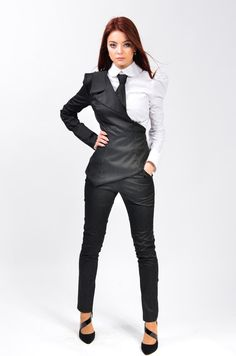 Tabitha suit Tight trousers by LauraGalic on Etsy