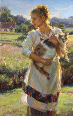 """""""Она и ее кот"""" - выставка к Женскому дню 8 марта - История искусств"""