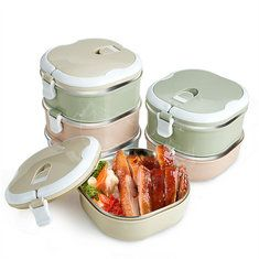 1/2/3/4 Layers Stainless Steel Thermal Insulated Lunch Box Bento Food Storage Container Cheap - NewChic Mobile