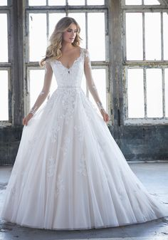 Browse our Mori Lee Bridal wedding dresses, huge collection of bridal gowns by the famous designer Madeline Gardner at the best prices. Lace Wedding Dress, Long Sleeve Wedding, Perfect Wedding Dress, Bridal Wedding Dresses, Wedding Dress Styles, Dream Wedding Dresses, Flattering Wedding Dress, Wedding Colors, Tulle Ball Gown