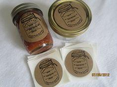 Canning Jar Stickers-Mason Jar Labels- Circle Kraft Colored Stickers-Homestead Canning Stickers