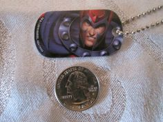 Magneto-Marvel-Comic-Red-Blue-Modern-Dogtag-Necklace-Backpack-Gift-Party