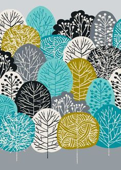 Blue Forest, limited edition giclee print by Eloise Renauf. $25.00, via Etsy.